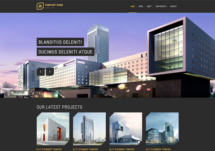 Modern architecture free responsive website template for Architecture site web