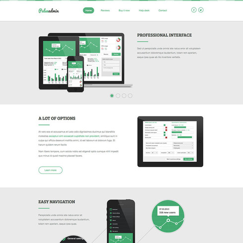 Free Minty Pulse Admin Responsive Template