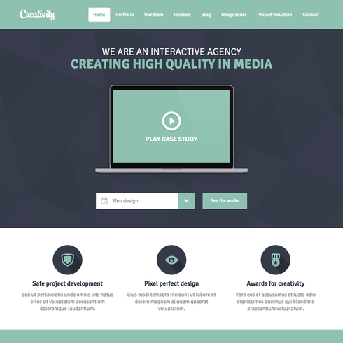 minimalist website templates Free Minimal Creativity Responsive Website Template