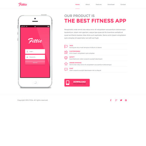 Sweet & Sleek Fittie Free Responsive Template