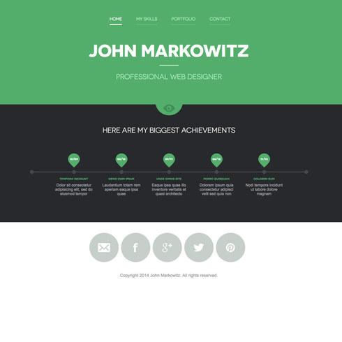 Free John Markowitz Responsive Portfolio Website Template - E portfolio templates