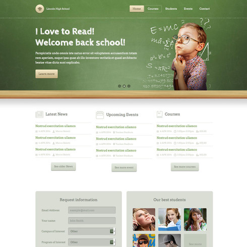 Lincoln High School Free Responsive Template