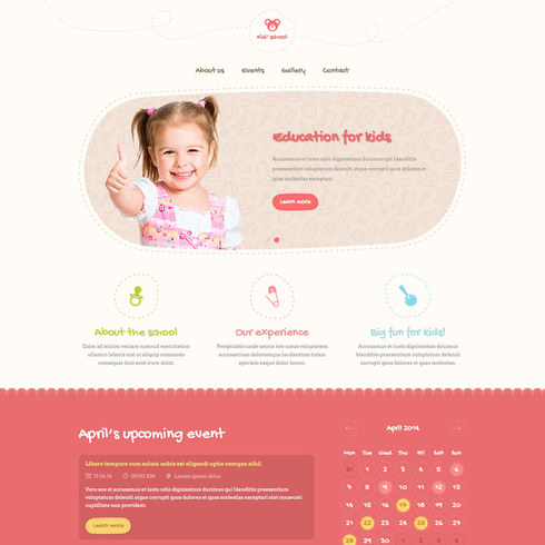 Sweet Kid School Free Responsive Template