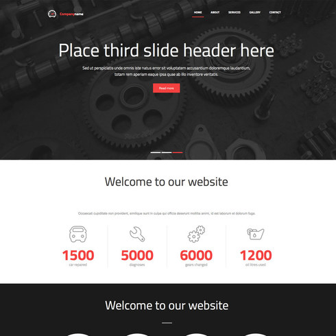 Steel Car Workshop Free Responsive Website Template - Free web site template