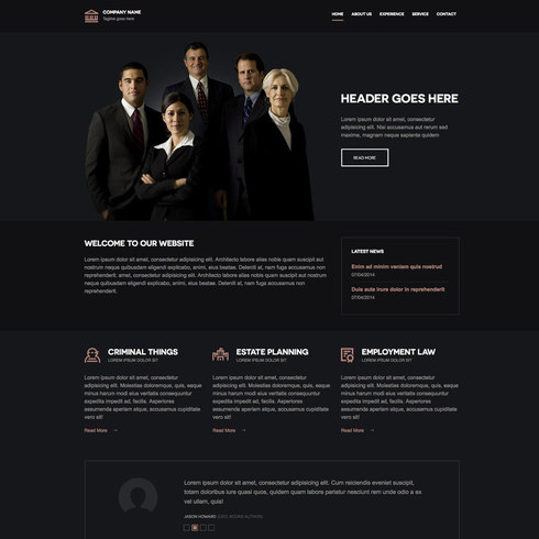 Free Law Firm Responsive Template