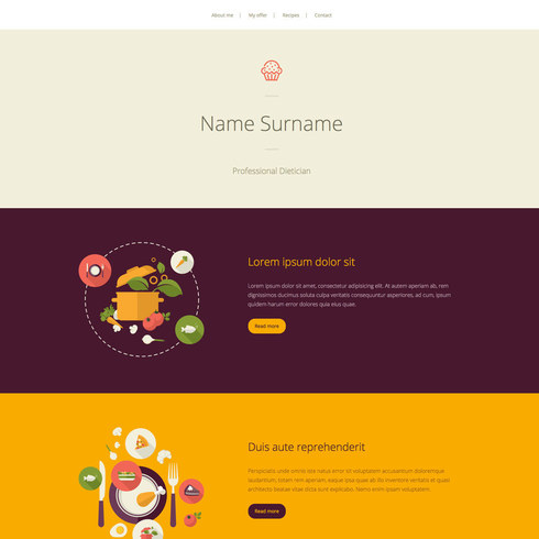 Free Dietician Responsive Template