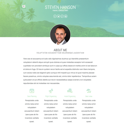 Travel Consultants Responsive Template