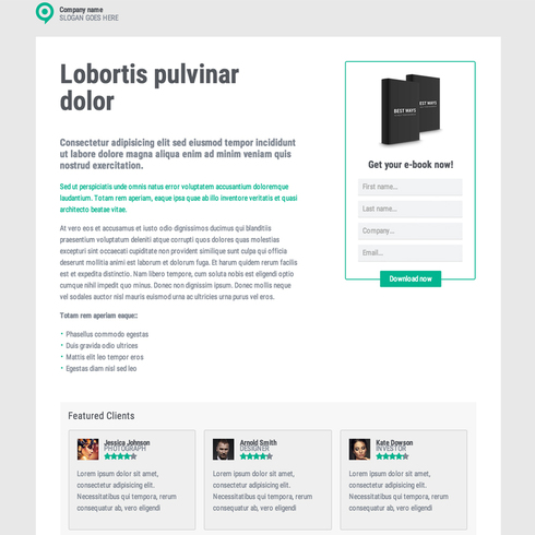 eBook Lander Responsive Template