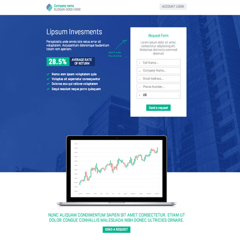 Investments Lander Responsive Template