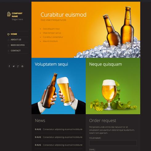 Modern Beer Responsive Template