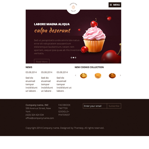Confectionery Responsive Template