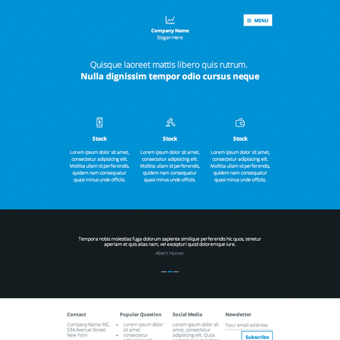 Financial Advising Responsive Template