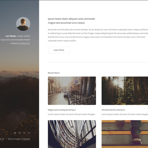 Free Strata Responsive Website Template