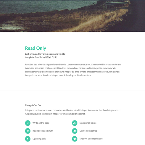 Free Read Only Responsive Website Template