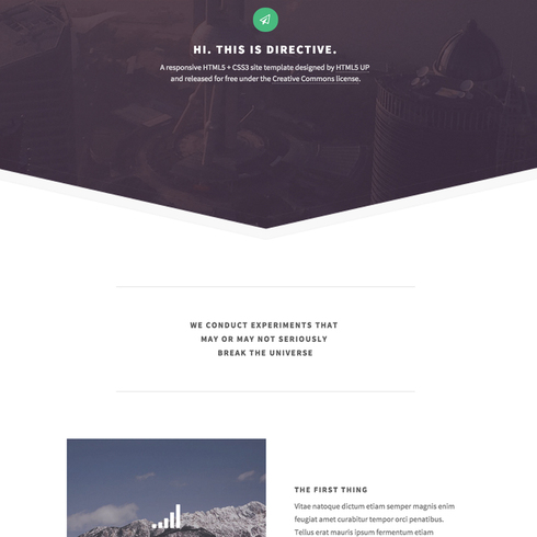 Free Directive Responsive Website Template
