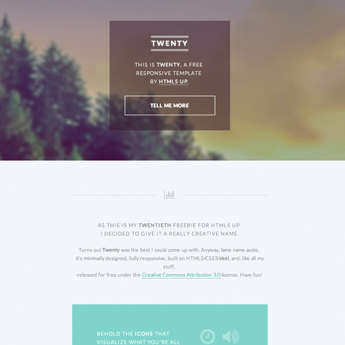 Free Twenty Responsive Website Template