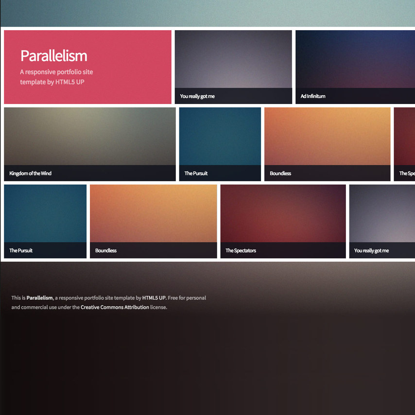 Parallelism portfolio free responsive template for What is a responsive template