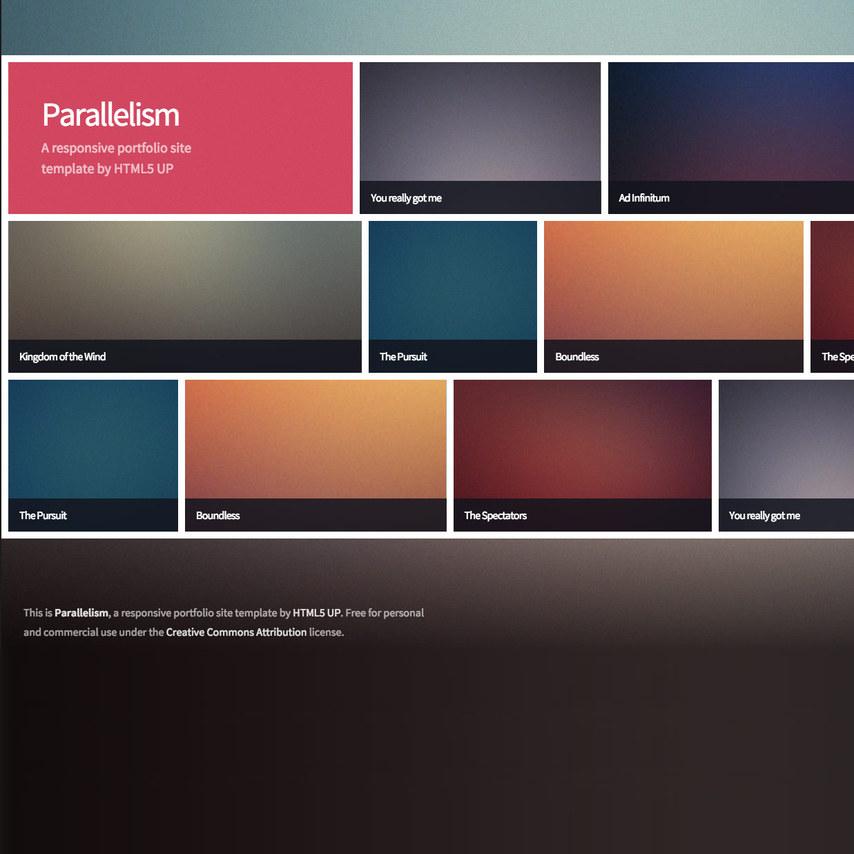 Parallelism portfolio free responsive template for E portfolio templates free