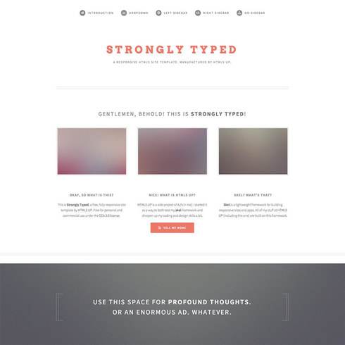 Strongly Typed Free Responsive Template