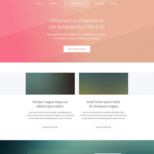 Geometric Telephasic Free Responsive Template