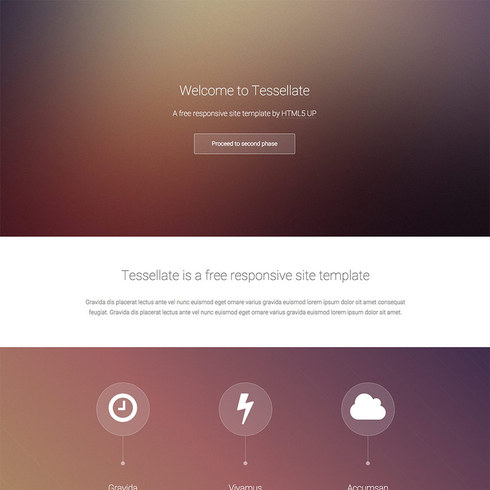 Blurry Tessellate Free Responsive Template