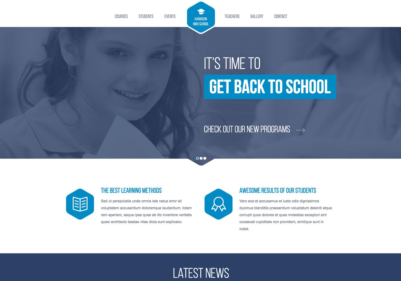 High school responsive website template for Free responsive website templates