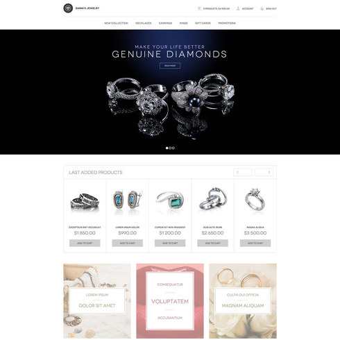 Diana's Jewelry Free Responsive Website Template