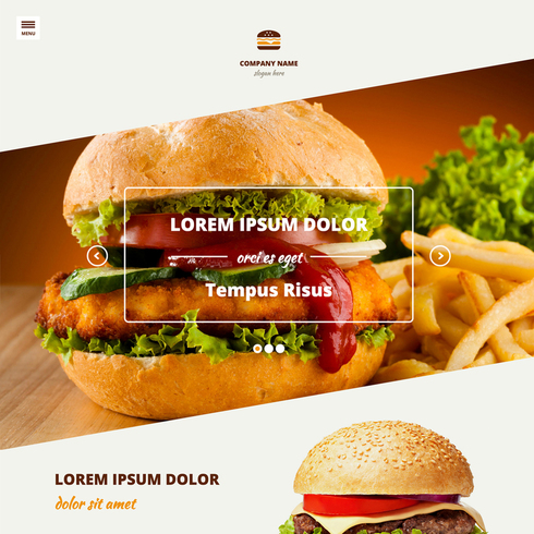 Burger Bar Responsive Website Template