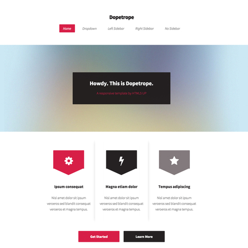 Dopetrope Responsive Website Template