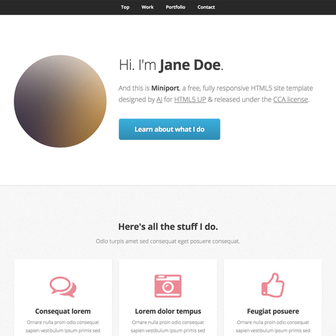 Miniport Responsive Website Template