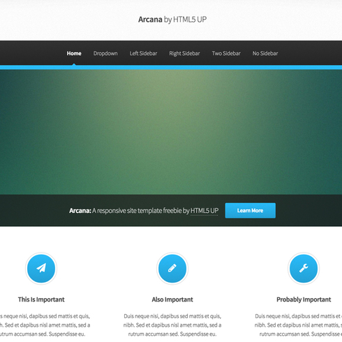 Arcana Responsive Website Template