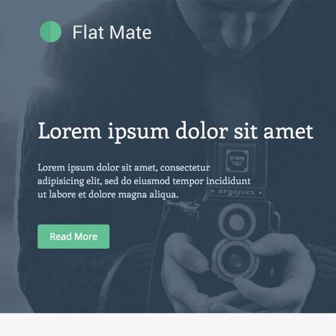 Flatmate Flat Bootstrap Responsive Website Template