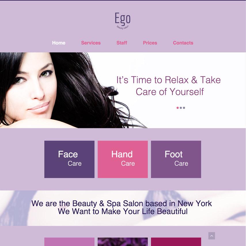sleek beauty salon free responsive website template