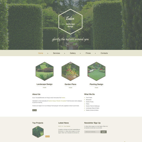 Free Landscaping & Nursery Template