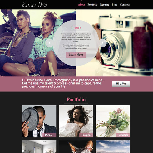 Photography Responsive Website Template - Free photography website templates