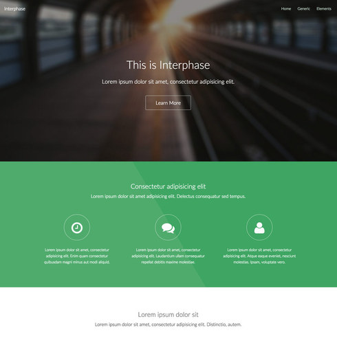 Flat Interphase Free Responsive Template