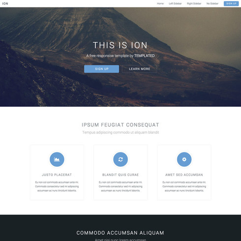 Classic Ion Free Responsive Template