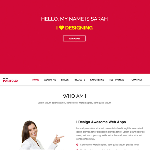 Wow Portfolio Responsive Website Template