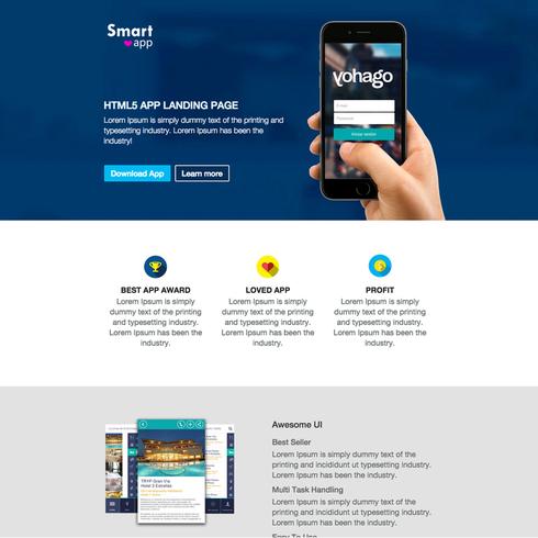 SmartApp Free Responsive Website Template