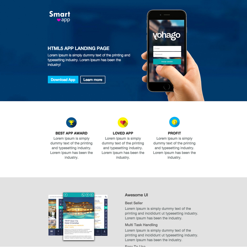 Smartapp free responsive website template for Free responsive website templates