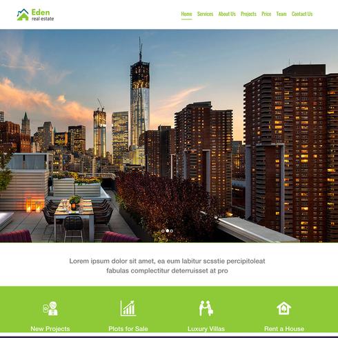 Eden Real Estate Free Responsive Website Template - Real estate website templates