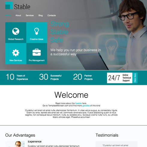 Stable Responsive Website Template