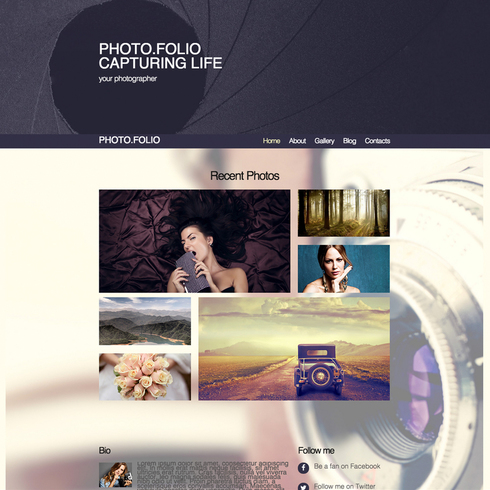 Photo Folio Responsive Website Template