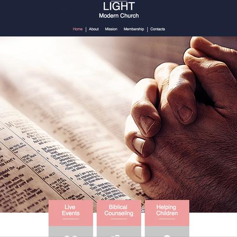 Modern Church Website Template