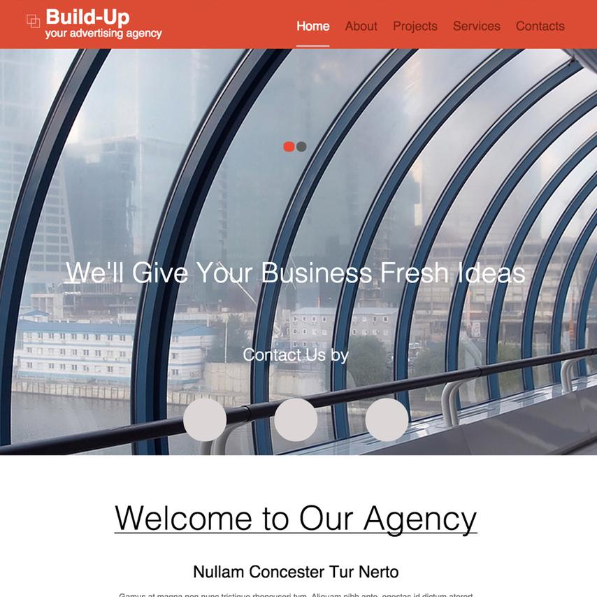 advertising agency responsive website template. Black Bedroom Furniture Sets. Home Design Ideas