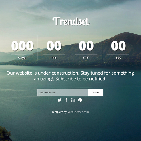 Trendset Coming Soon Responsive Template