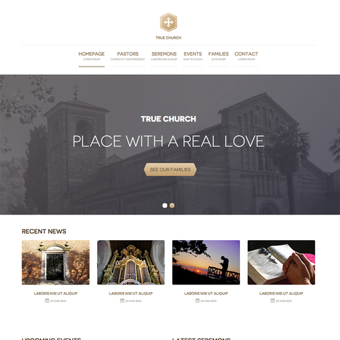 Church Free Responsive Website Template - Church website templates