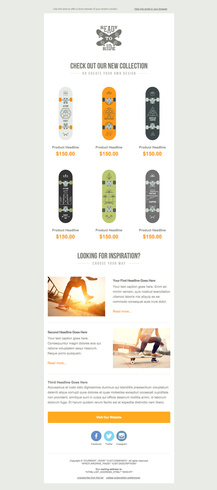Skateboarding Themed Free Email Template