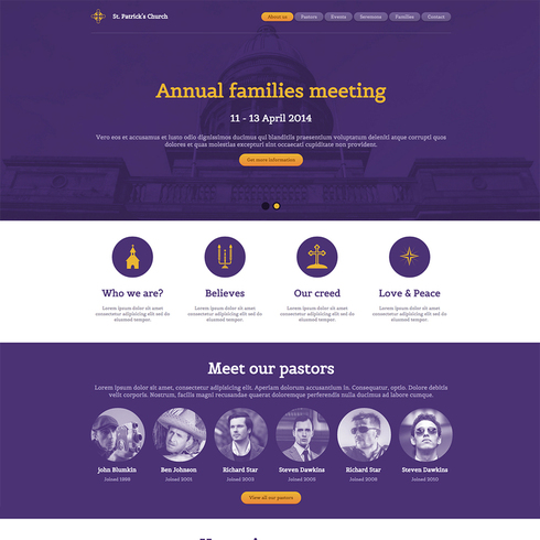 St patrick 39 s church free responsive website template for Free responsive website templates