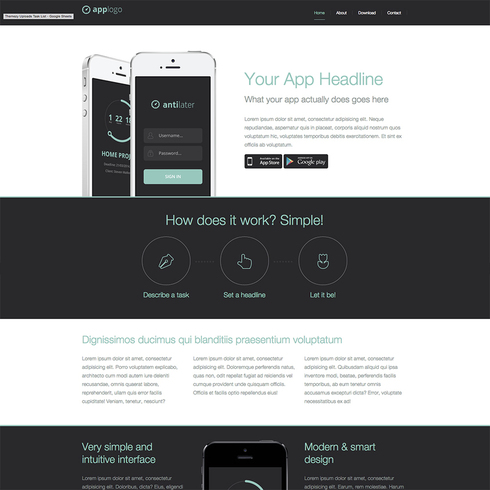 Techy Antilater Free Responsive Website Template